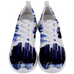 Abstract Of Downtown Chicago Effects Men s Lightweight Sports Shoes