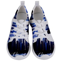 Abstract Of Downtown Chicago Effects Women s Lightweight Sports Shoes