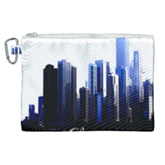 Abstract Of Downtown Chicago Effects Canvas Cosmetic Bag (xl)