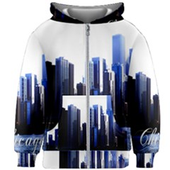 Abstract Of Downtown Chicago Effects Kids Zipper Hoodie Without Drawstring
