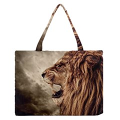 Roaring Lion Zipper Medium Tote Bag by Samandel