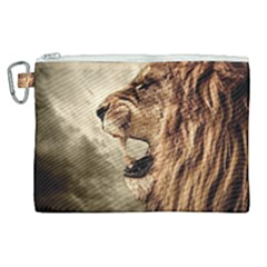 Roaring Lion Canvas Cosmetic Bag (xl) by Samandel