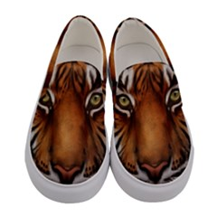 The Tiger Face Women s Canvas Slip Ons
