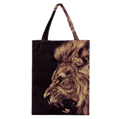 Angry Male Lion Gold Classic Tote Bag by Samandel