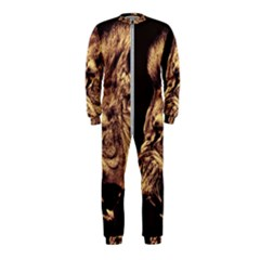 Angry Male Lion Gold Onepiece Jumpsuit (kids) by Samandel