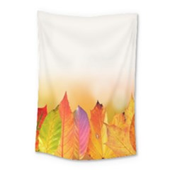 Autumn Leaves Colorful Fall Foliage Small Tapestry
