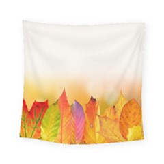 Autumn Leaves Colorful Fall Foliage Square Tapestry (small)