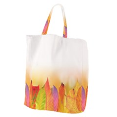 Autumn Leaves Colorful Fall Foliage Giant Grocery Tote