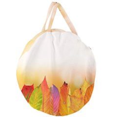 Autumn Leaves Colorful Fall Foliage Giant Round Zipper Tote by Samandel