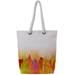Autumn Leaves Colorful Fall Foliage Full Print Rope Handle Tote (small) by Samandel