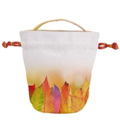 Autumn Leaves Colorful Fall Foliage Drawstring Bucket Bag