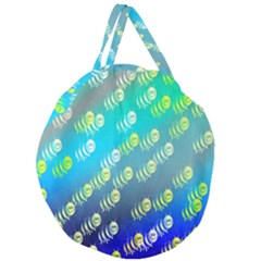 Animal Nature Cartoon Wild Wildlife Wild Life Giant Round Zipper Tote