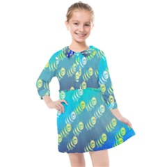 Animal Nature Cartoon Wild Wildlife Wild Life Kids  Quarter Sleeve Shirt Dress