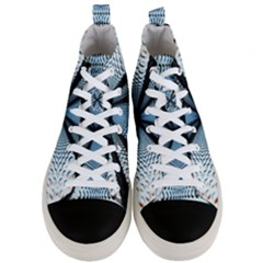 6th Dimension Metal Abstract Obtained Through Mirroring Men s Mid Top Canvas Sneakers