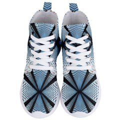 6th Dimension Metal Abstract Obtained Through Mirroring Women s Lightweight High Top Sneakers