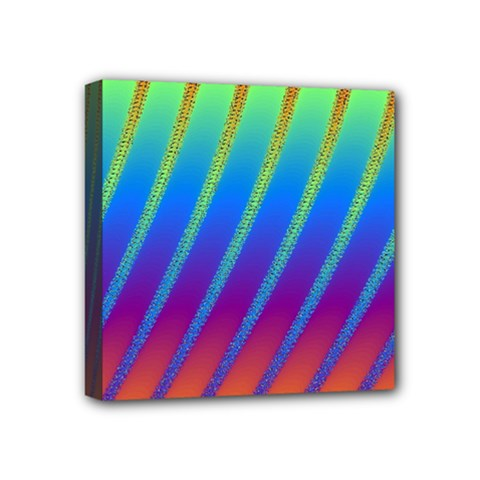 Abstract Fractal Multicolored Background Mini Canvas 4  X 4  (stretched)