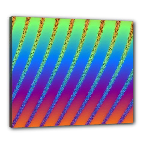 Abstract Fractal Multicolored Background Canvas 24  X 20  (stretched)