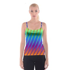 Abstract Fractal Multicolored Background Spaghetti Strap Top