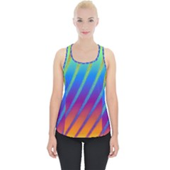 Abstract Fractal Multicolored Background Piece Up Tank Top
