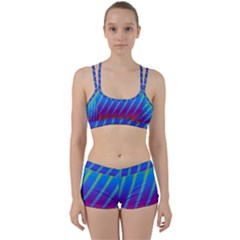 Abstract Fractal Multicolored Background Women s Sports Set