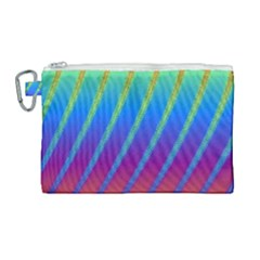 Abstract Fractal Multicolored Background Canvas Cosmetic Bag (large)