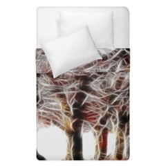 Autumn Fractal Forest Background Duvet Cover Double Side (single Size)