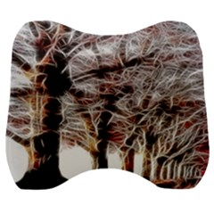 Autumn Fractal Forest Background Velour Head Support Cushion by Samandel