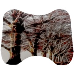 Autumn Fractal Forest Background Head Support Cushion by Samandel