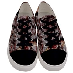Autumn Fractal Forest Background Men s Low Top Canvas Sneakers
