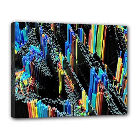Abstract 3d Blender Colorful Canvas 14  X 11  (stretched)