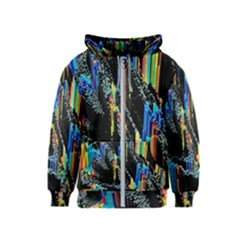 Abstract 3d Blender Colorful Kids  Zipper Hoodie