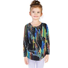 Abstract 3d Blender Colorful Kids  Long Sleeve Tee