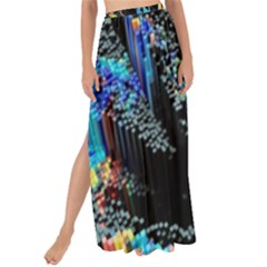 Abstract 3d Blender Colorful Maxi Chiffon Tie Up Sarong