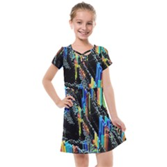 Abstract 3d Blender Colorful Kids  Cross Web Dress