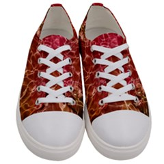 Background Water Abstract Red Wallpaper Women s Low Top Canvas Sneakers