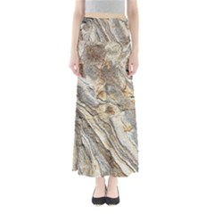 Background Structure Abstract Grain Marble Texture Full Length Maxi Skirt