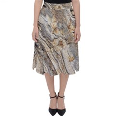 Background Structure Abstract Grain Marble Texture Classic Midi Skirt