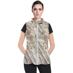 Background Structure Abstract Grain Marble Texture Women s Puffer Vest