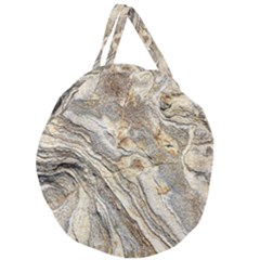 Background Structure Abstract Grain Marble Texture Giant Round Zipper Tote