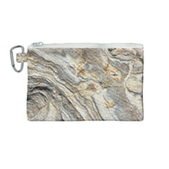 Background Structure Abstract Grain Marble Texture Canvas Cosmetic Bag (medium)
