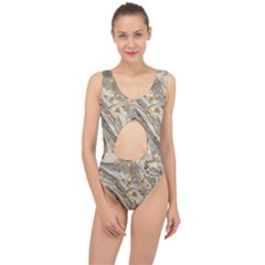 Background Structure Abstract Grain Marble Texture Center Cut Out Swimsuit