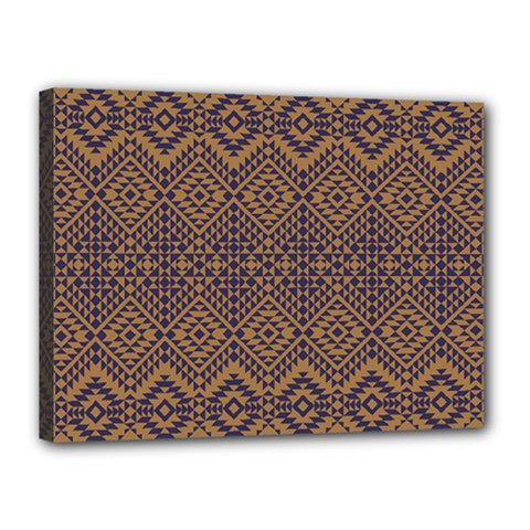 Aztec Pattern Canvas 16  X 12  (stretched)