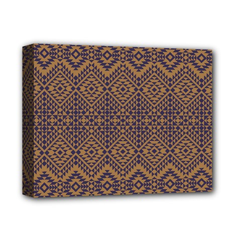 Aztec Pattern Deluxe Canvas 14  X 11  (stretched)