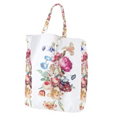 Fleur Vintage Floral Painting Giant Grocery Tote