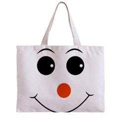 Happy Face With Orange Nose Vector File Zipper Mini Tote Bag by Samandel