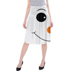 Happy Face With Orange Nose Vector File Midi Beach Skirt