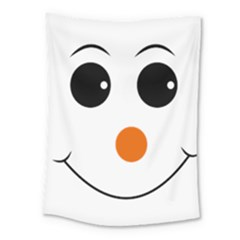 Happy Face With Orange Nose Vector File Medium Tapestry