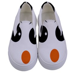 Happy Face With Orange Nose Vector File Kids  Canvas Slip Ons