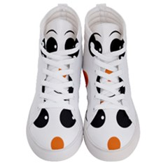 Happy Face With Orange Nose Vector File Men s Hi Top Skate Sneakers