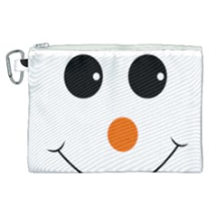 Happy Face With Orange Nose Vector File Canvas Cosmetic Bag (xl)